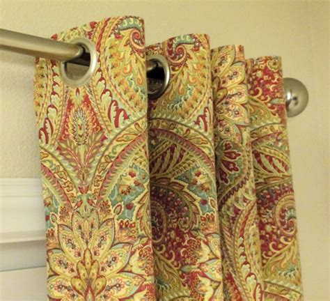 paisley drapes grommet top curtains in waverly swept away berry by sewpanache
