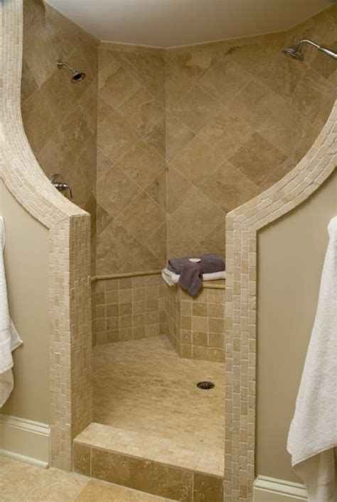 Dual Shower by Dual Shower Heads 6 Wonderful Doorless Walk In Shower Designs Estateregional