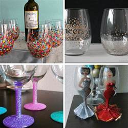 how to paint on wine glasses and a roundup of ideas for