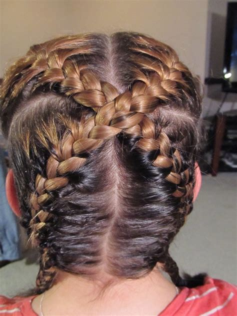 french braid across the top how to create an quot x quot braid 11