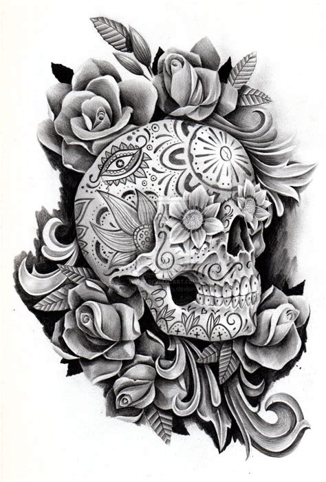 day of the dead skull tattoo designs pages day pictures to pin on page 2