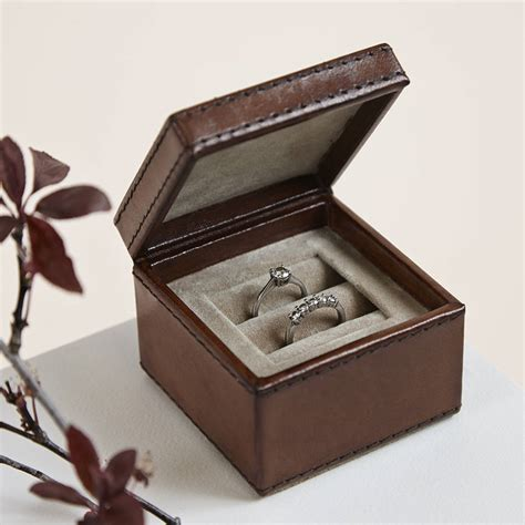 engagement ring boxes leather wedding ring box by life of riley