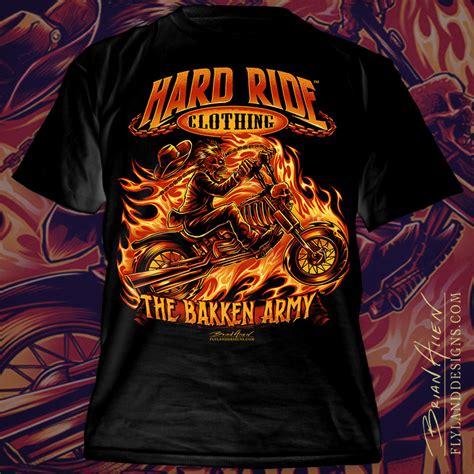 T Shirt 00928 Fly Rider skeleton motorcycle rider t shirt flyland designs