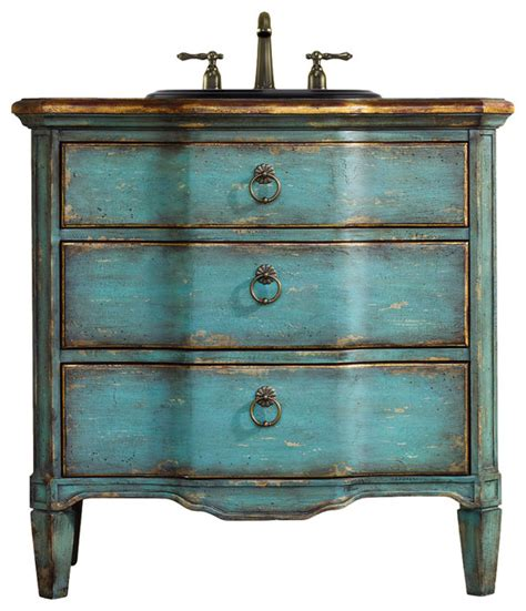 cole co buckner vanity teal 32 quot traditional