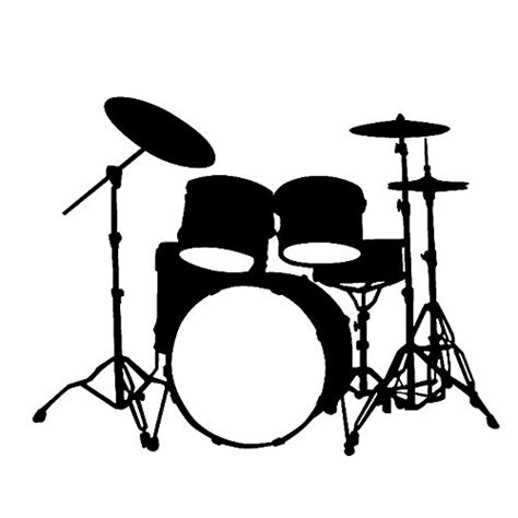 hot chick playing drums custom drum set silhouette vinyl decal sticker drumstel