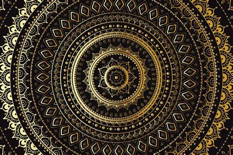 Mandala Gold gold mandala set illustrations on creative market