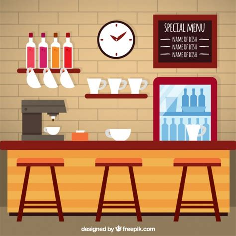 coffee shop flat design coffee shop in flat design vector premium download