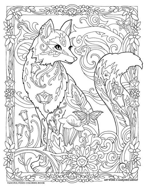 fox mandala coloring page foxy lady drawings pinterest adult coloring