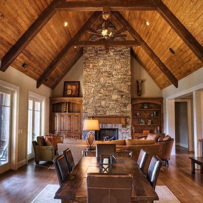 white room  cedar ceiling traditional family