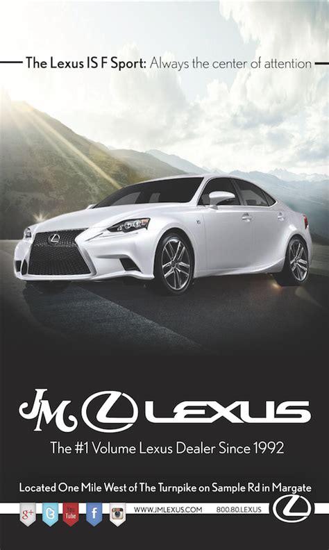 lifestyle magazine ads for jm lexus on behance