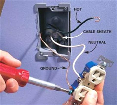 installing an outlet electrical outlet how to replace or install
