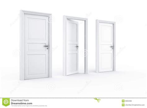 Keyhole Doorway by 2 Closed Door 1 Open Stock Illustration Image Of Doorway
