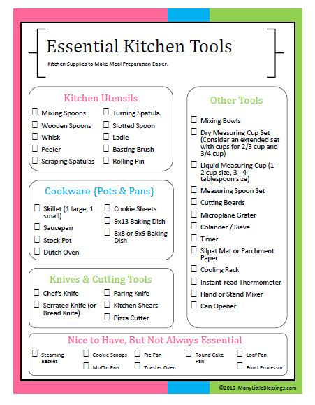 Household Gifts by Essential Kitchen Tools For Easier Meal Preparation