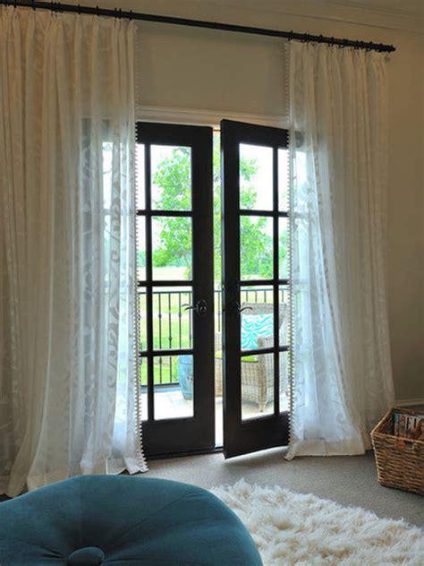curtains french doors french door curtain ideas for your home
