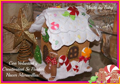 casas de fieltro casita de jengibre en fieltro gingerbread house tutorial