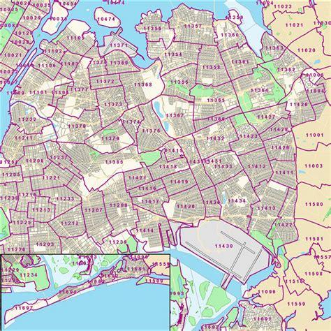zip code maps nyc queens new york zip code map new york map