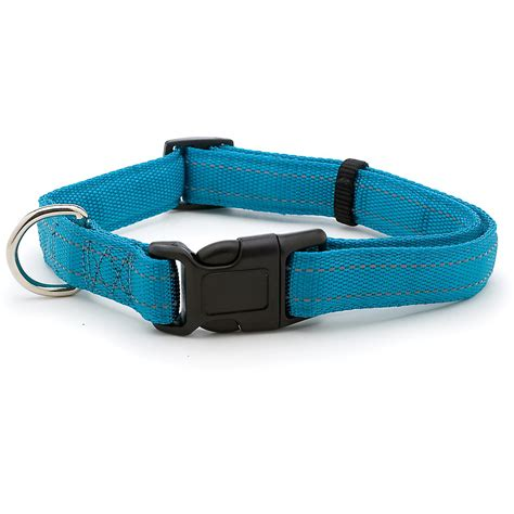 teal collar petmate 1 quot reflective padded adjustable collar in teal large ebay