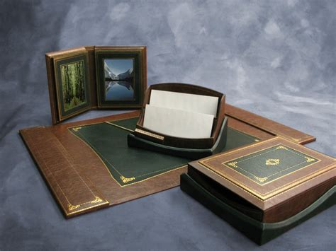 luxury office desk accessories the shevach luxury leather desk set desk accessories