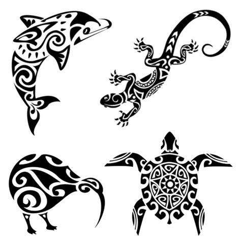4 maori tattoos turtle kiwi gecko dolphin vaiana