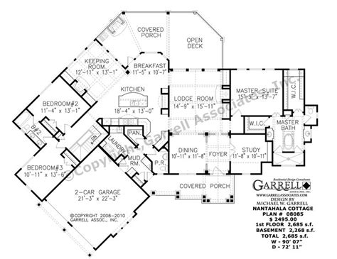 nantahala floor plan nantahala cottage house plan 08085 1st floor plan