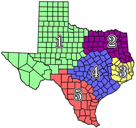 sections of texas contest if you were charged with splitting up texas into