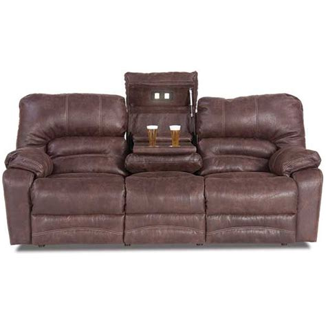 microfiber power reclining sofa gray living room