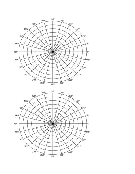 polar graph paper polar coordinate graph paper free