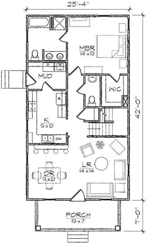 narrow bathroom floor plans 653974 bungalow 3 bedroom 2 bath narrow house plan house plans floor plans home plans