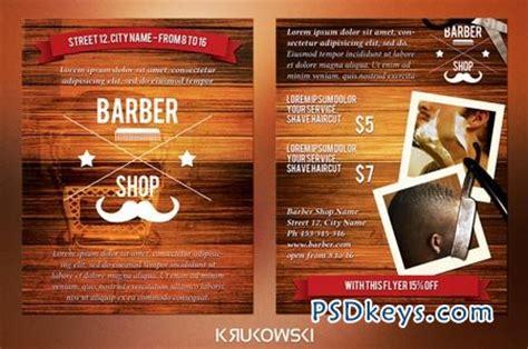 Barber Shop 2 Sided Flyer 44374 187 Free Download Photoshop Vector Stock Image Via Torrent Free Barber Shop Website Template