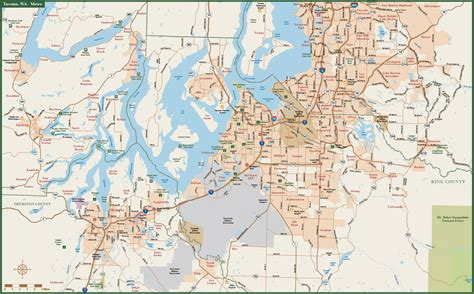 olympia washington map tacoma to olympia metro map digital creative