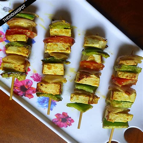 Grilled Cottage Cheese by Easy Paneer Tikka Grilled Cottage Cheese Recipe