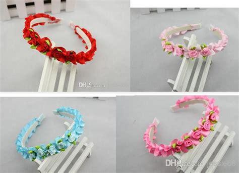 How To Make Handmade Headbands - lovely baby handmade ribbons hair bows wreath