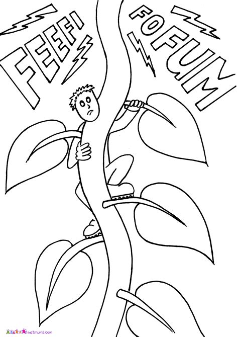 Jack And The Beanstalk Coloring Pages Coloring Home And The Beanstalk Coloring Page