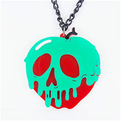 snow white poison apples vintage red apple metal canisters disney poison apple necklace evil queen villains snow