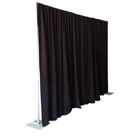 black velour drape pipe drape drape velour