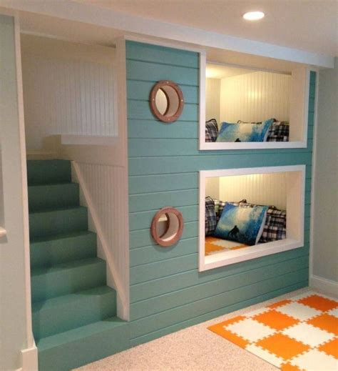 Built In Bunk Beds Ideas 17 Best Ideas About Built In Bunks On Pinterest Bunk Beds Basement And Bunk Bed Rooms