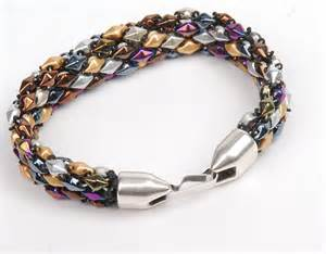 Bead Woven Bracelet free bead weaving diamonduo and demi