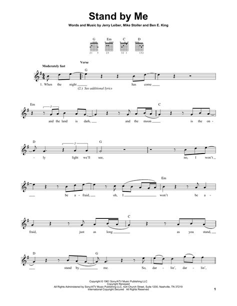 standoff music stand by me sheet music direct