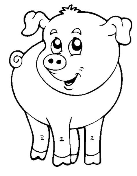 animali da cortile da colorare sta disegno di il maialino della fattoria da colorare