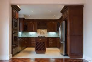 Wood Cabinets Kitchen Pictures Of Kitchens Traditional Dark Wood Kitchens