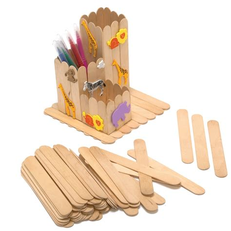 wooden craft sticks projects pack of 100 plain jumbo craft sticks with wood and