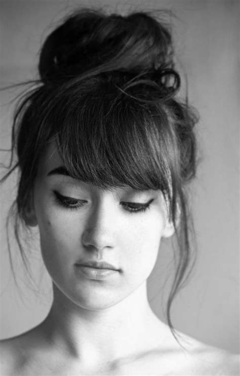 front hairstyles with a bun 25 best ideas about hairstyles with bangs on pinterest