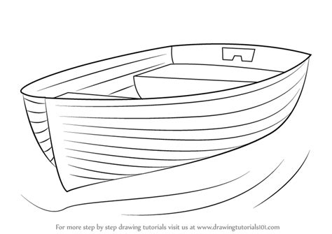 how to draw a kayak boat learn how to draw boat at dock boats and ships step by
