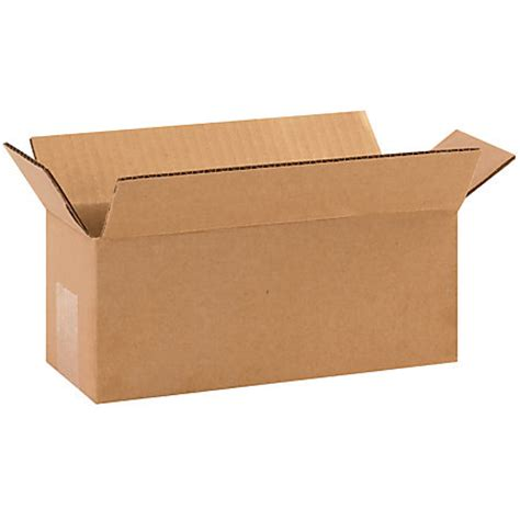 Home Depot Small Moving Box Dimensions Office Depot Brand Boxes 10 L X 4 H X 4 W Kraft Pack
