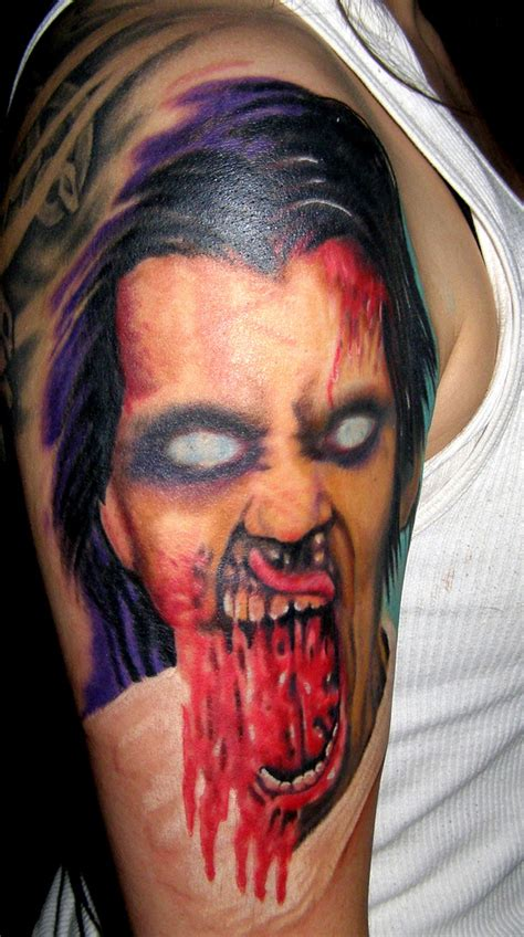 tattoo hours shoulder zombie tattoo 5 hours on shoulder arm www