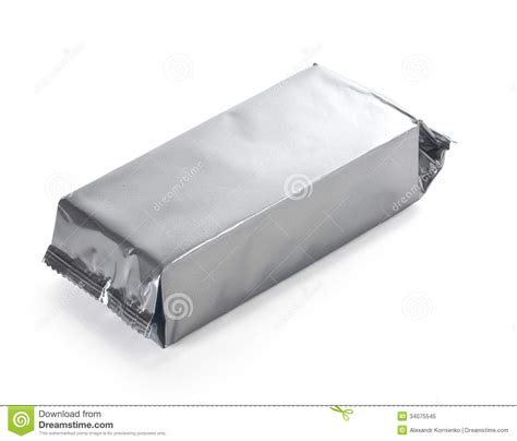 Ac 6473 Silver White blank food packaging royalty free stock photo image 34075545