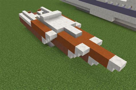 speed boat minecraft modern orange speedboat grabcraft your number one
