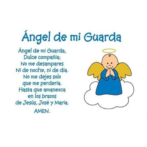 oraciones para ninos de kinder angel de la guarda god pinterest baptisms and angel