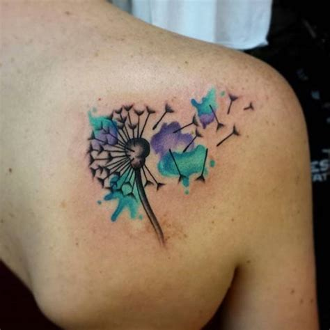 watercolor tattoo dandelion 50 devastatingly delightful dandelion tattoos tattooblend