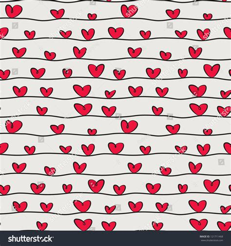 cute valentine pattern seamless pattern with hand drawn hearts st valentine s